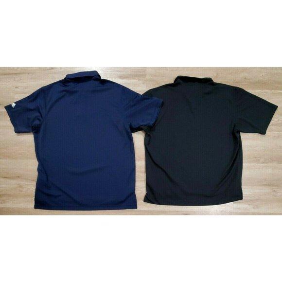 Adidas Mens Lot of 2 Blue Black Polo Shirts XL